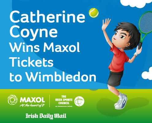 Catherine Coyne Wins Maxol Tickets to Wimbledon